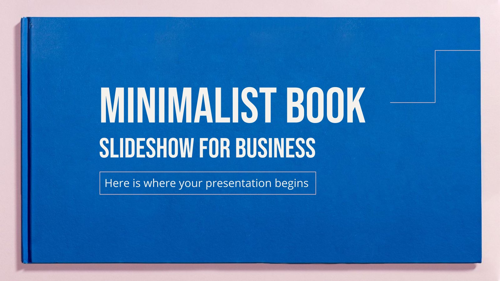 Minimalistische Buch-Diashow für Unternehmen Präsentationsvorlage