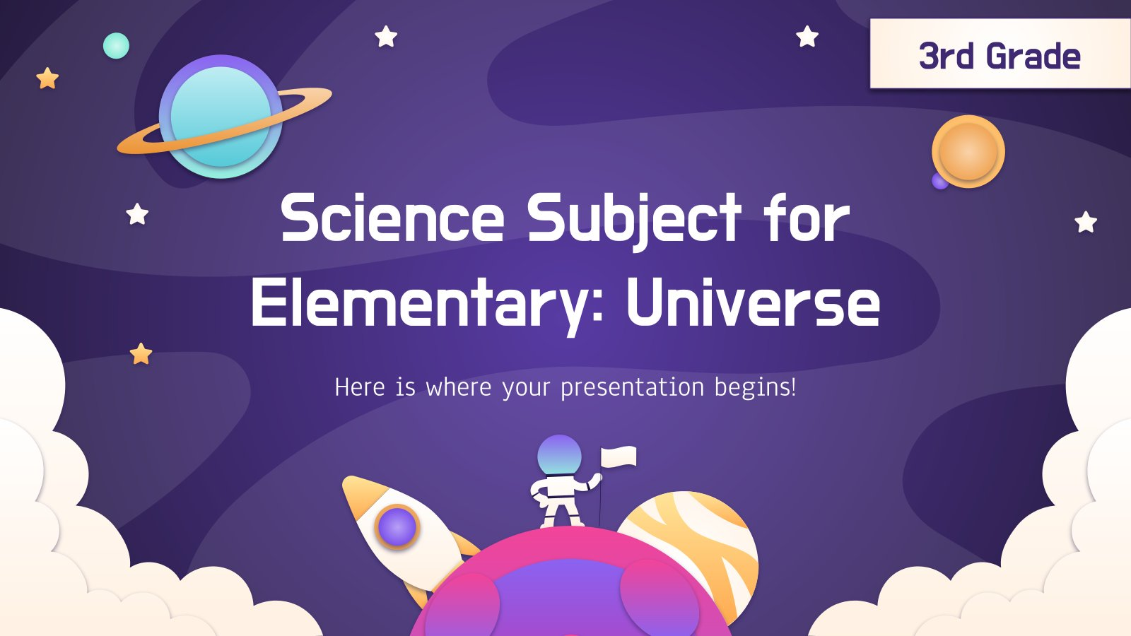 Science Subject for Elementary - 3rd Grade: Universe presentation template