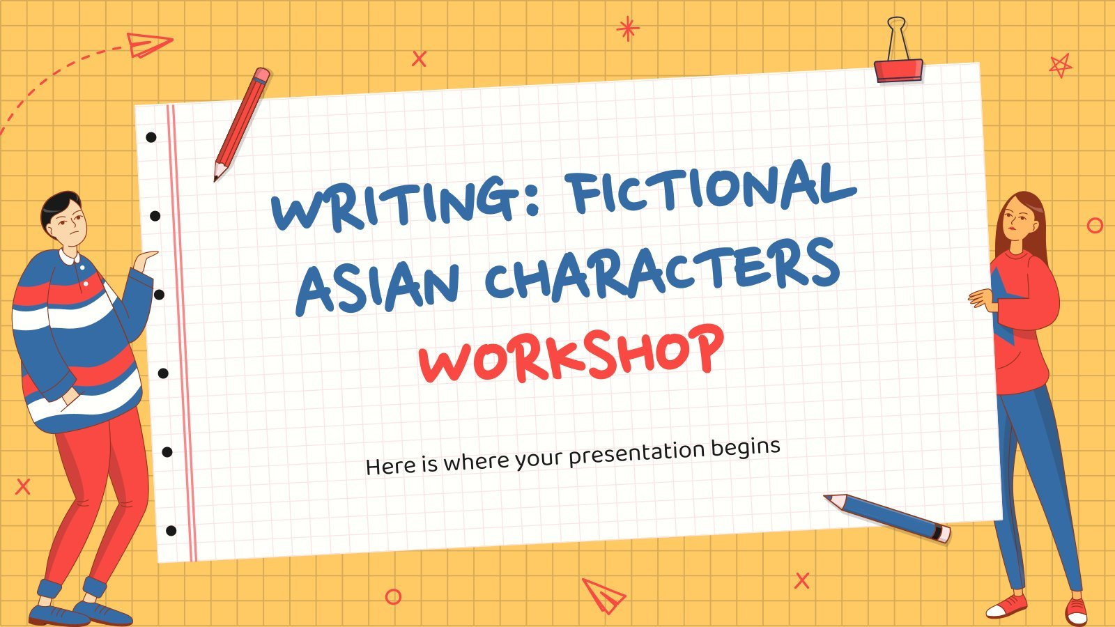 Writing Fictional Asian Characters Workshop presentation template