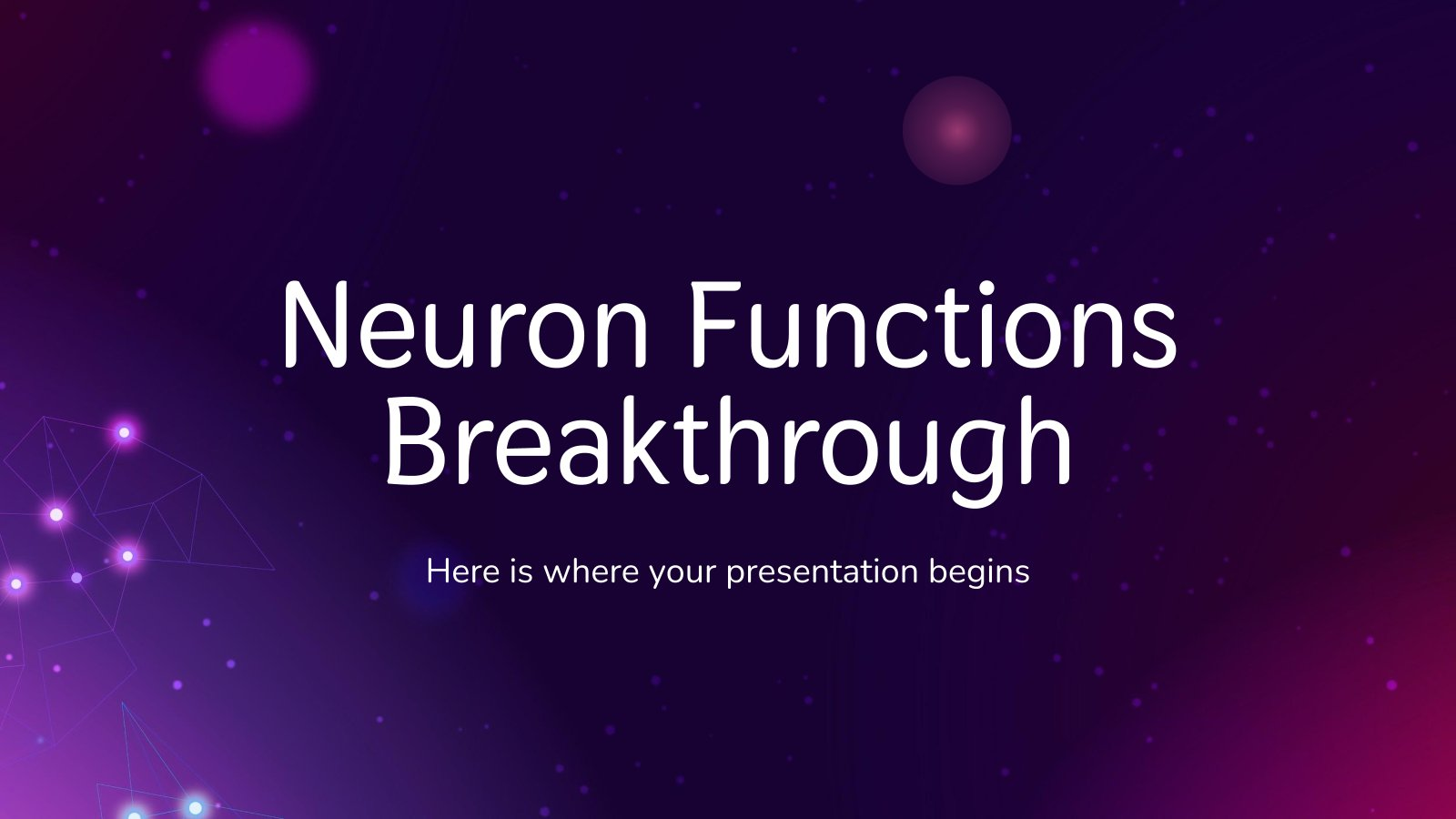 Plantilla de presentación Avance sobre las funciones neuronales