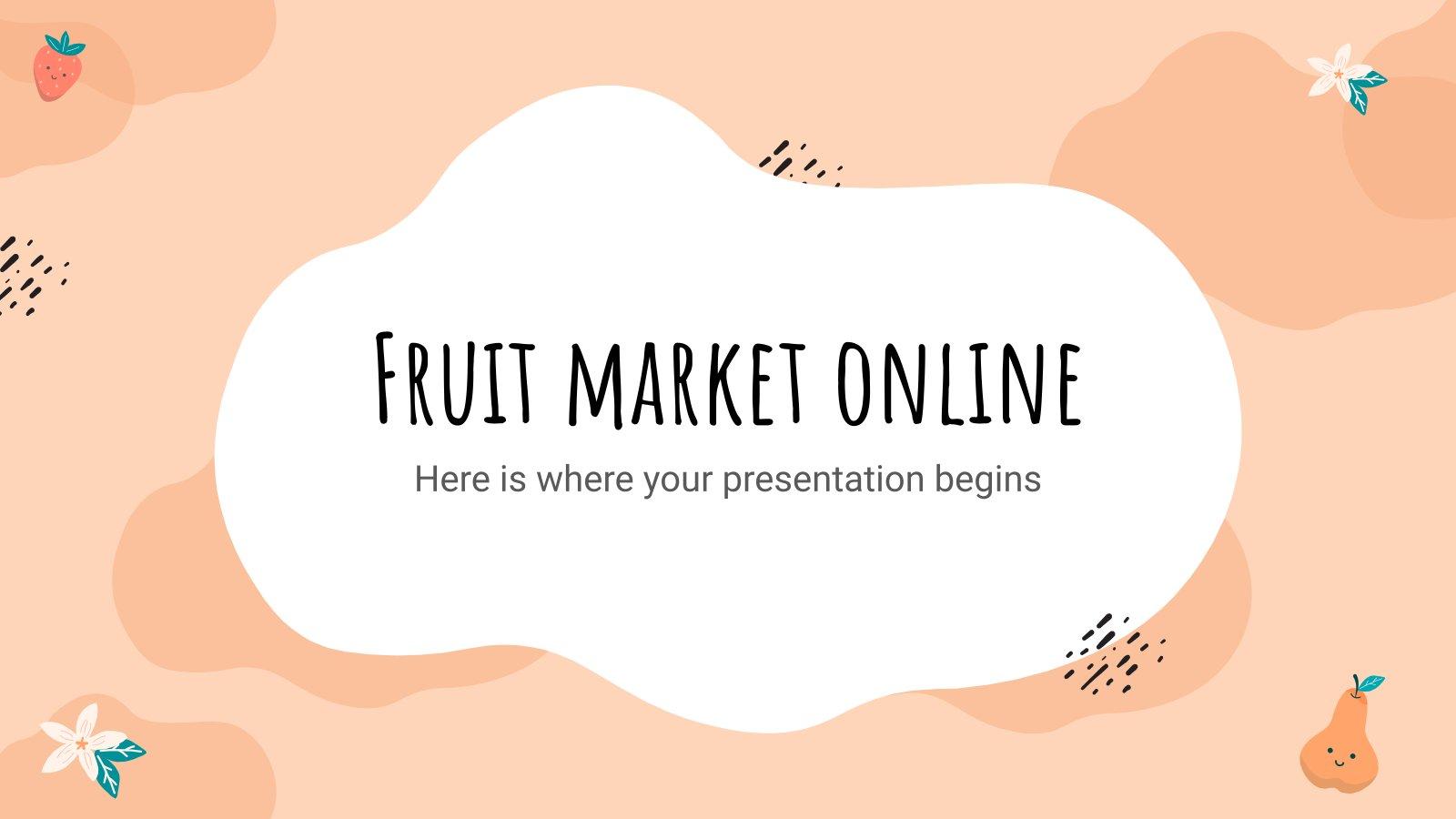 Plantilla de presentación Mercado de frutas online