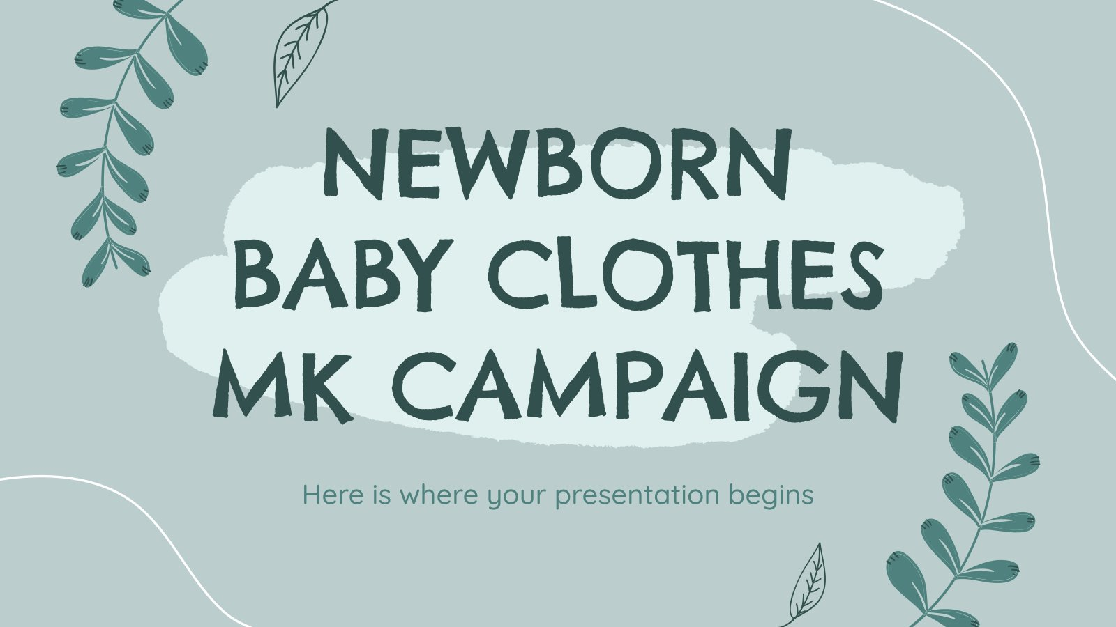 Campagne marketing sur les vêtements pour nouveau-nés : Modèles de présentation