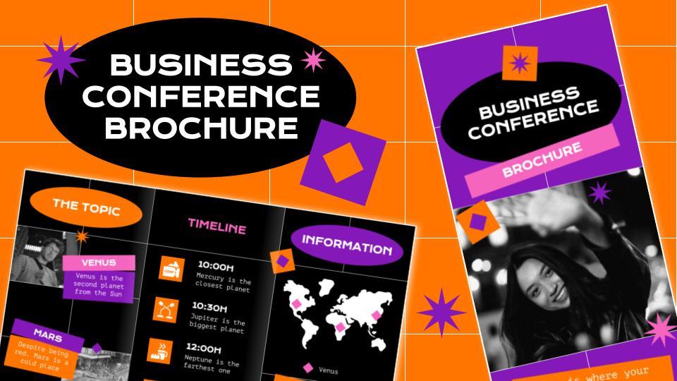 Brochure pour une conférence d'affaires : Modèles de présentation