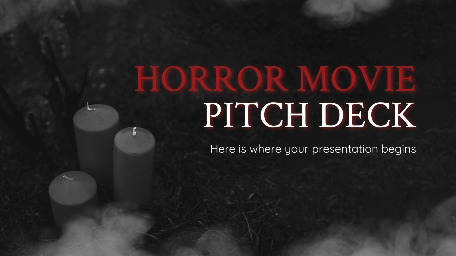 Plantilla de presentación Pitch deck para películas de terror