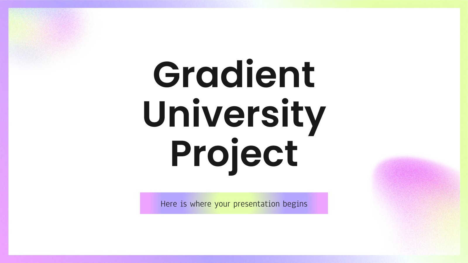 Projekt für die Universität mit Farbverlauf Präsentationsvorlage