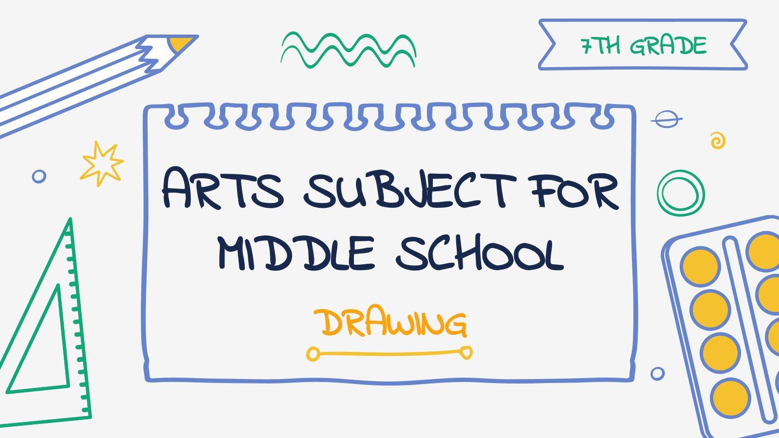 Kunst für die 7. Klasse: Zeichnen Präsentationsvorlage