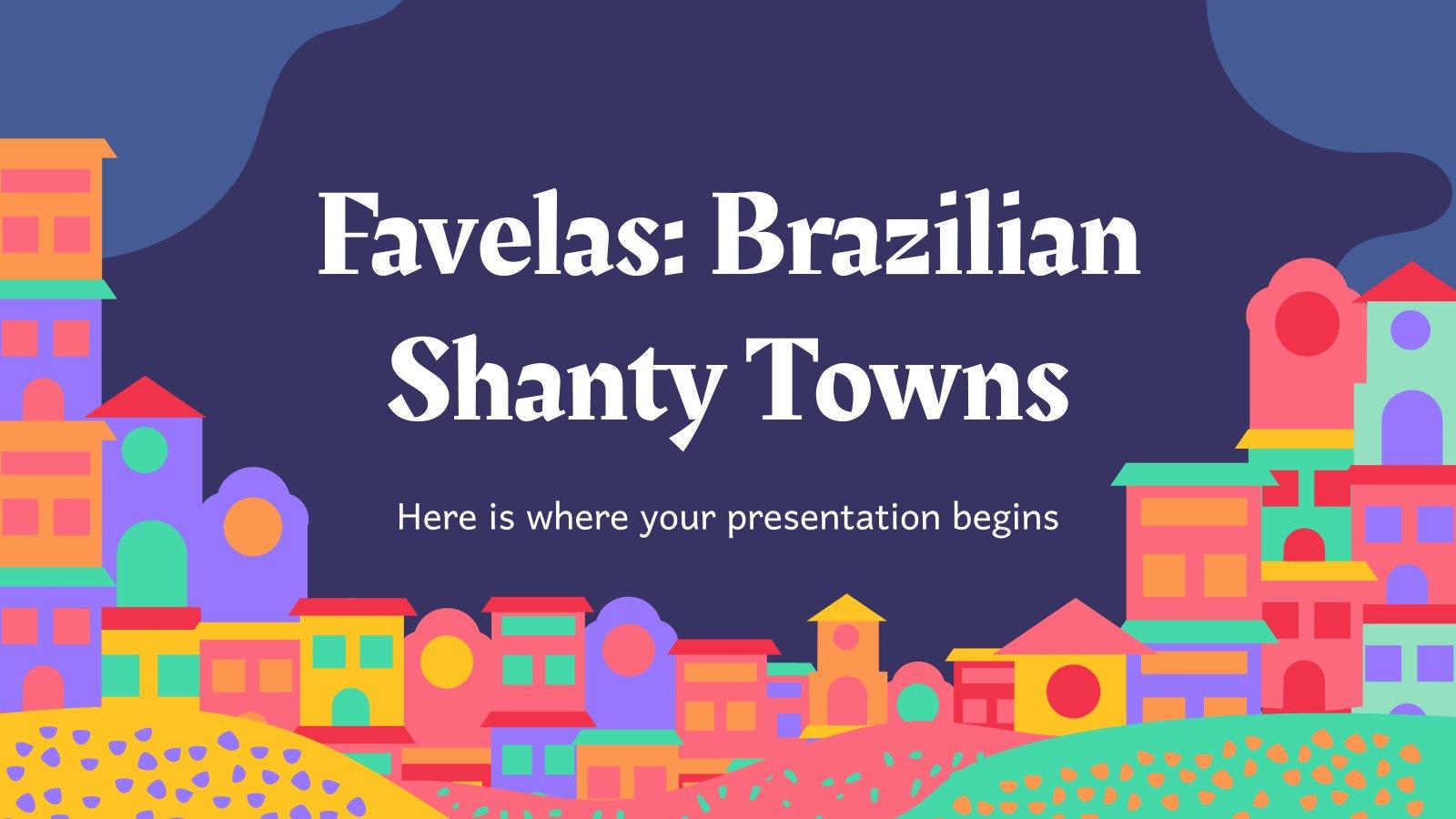 Plantilla de presentación Favelas: Los barrios de chabolas brasileños