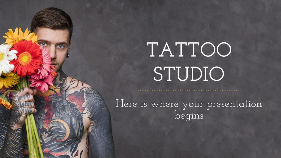 Plantilla de presentación Estudio de tatuaje