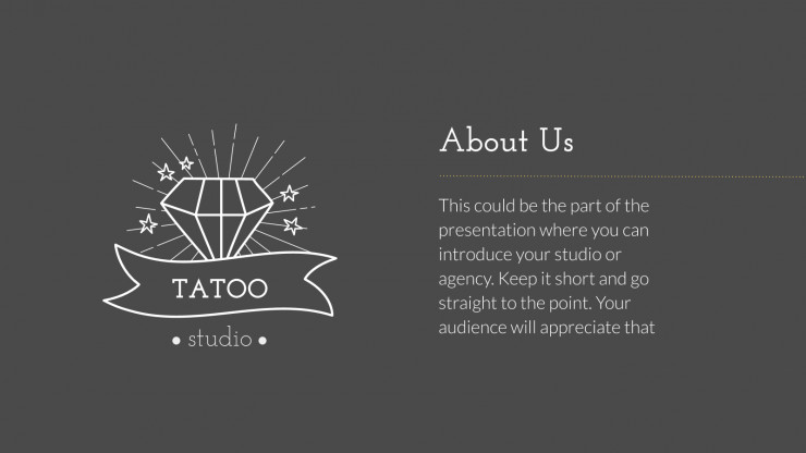 Modelo de apresentação Ateliê de tatuagem