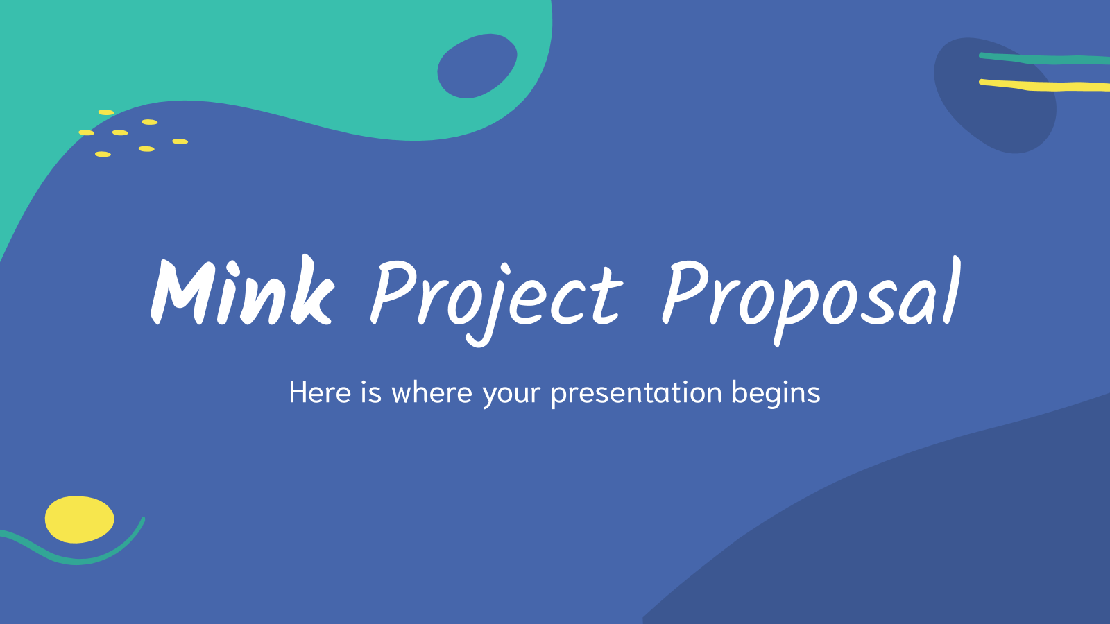 Mink Project Proposal presentation template