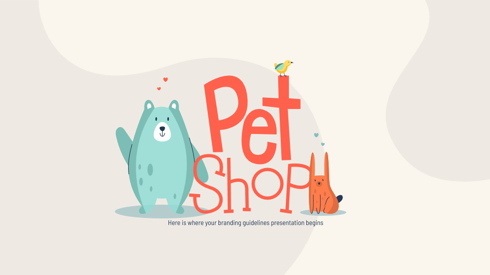 Pet Shop Branding presentation template