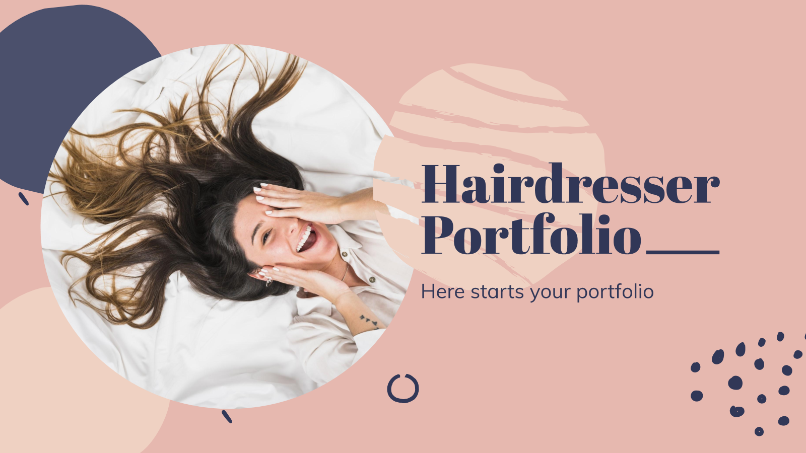 Modelo de apresentação Portfólio de cabeleireiro