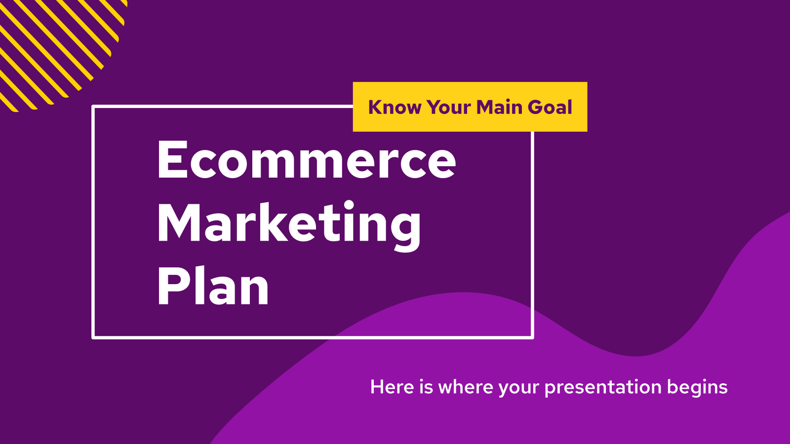 Ecommerce Marketing Plan presentation template