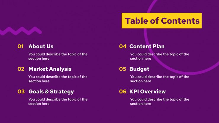 Ecommerce Marketing Plan presentation template