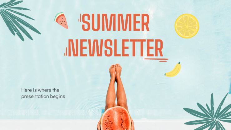 Summer Newsletter presentation template