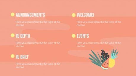 Modelo de apresentação Newsletter de verão
