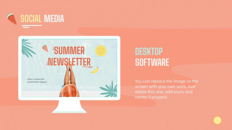 Plantilla de presentación Newsletter veraniega