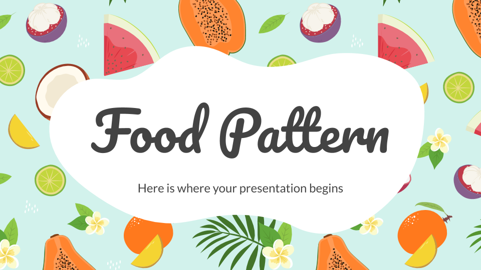 Food Pattern presentation template