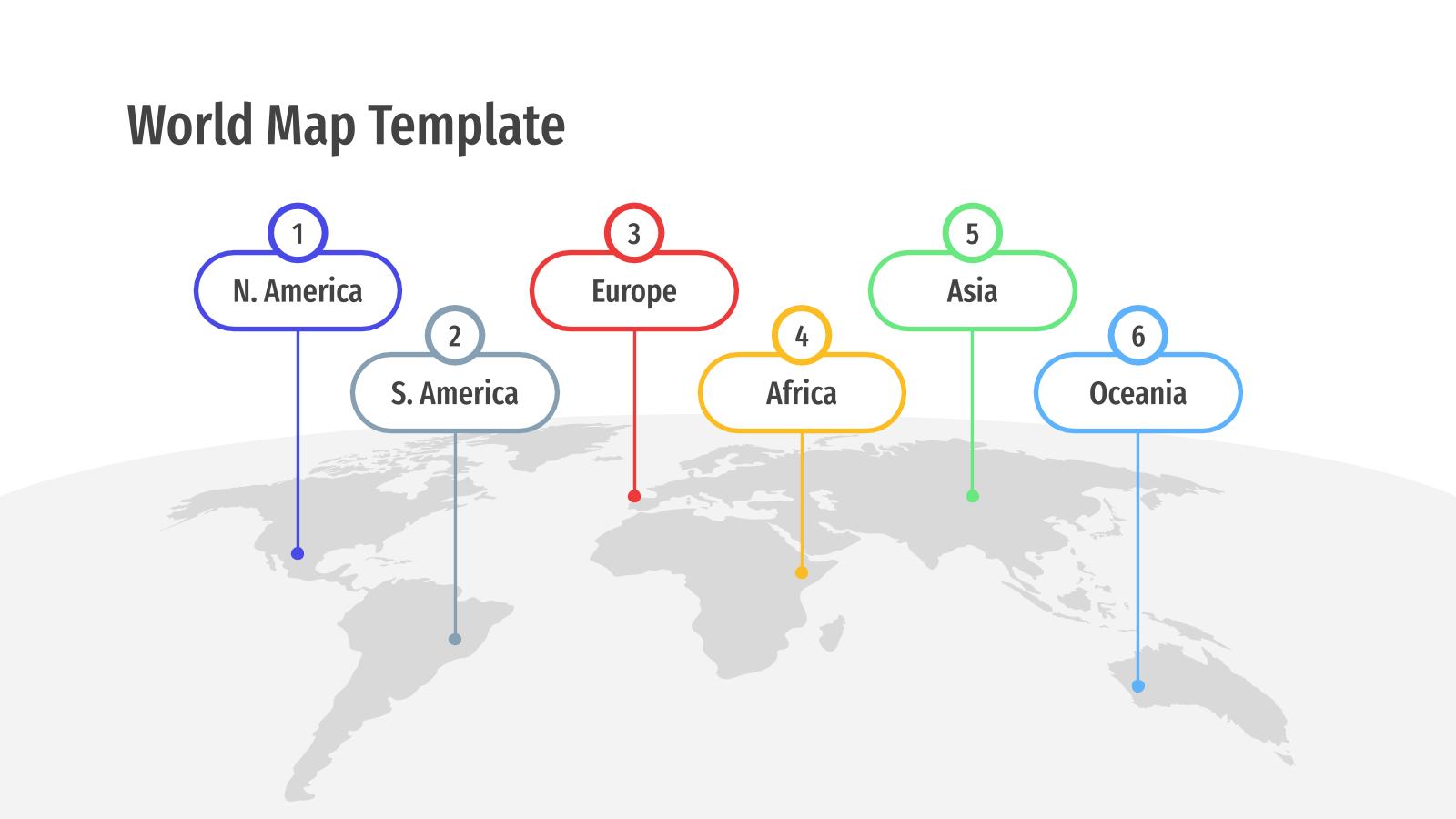 Modelo de apresentação Mapas de mundo