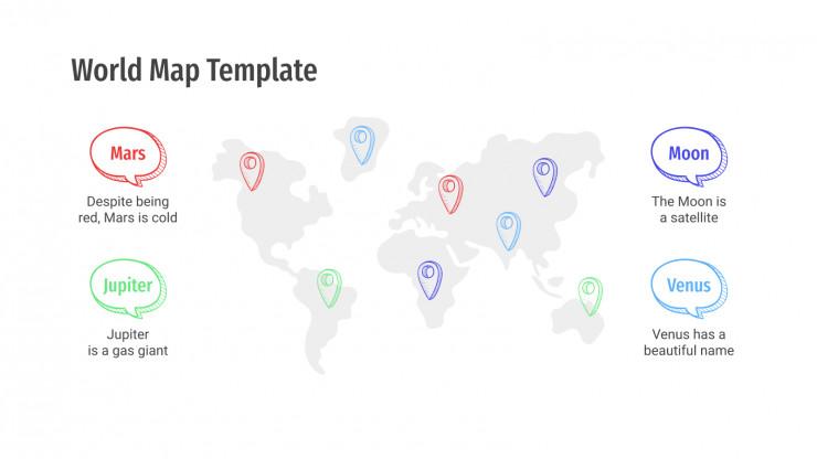 Cartes du monde : Modèles de présentation