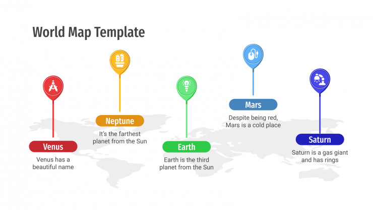 Plantilla de presentación Mapas del mundo