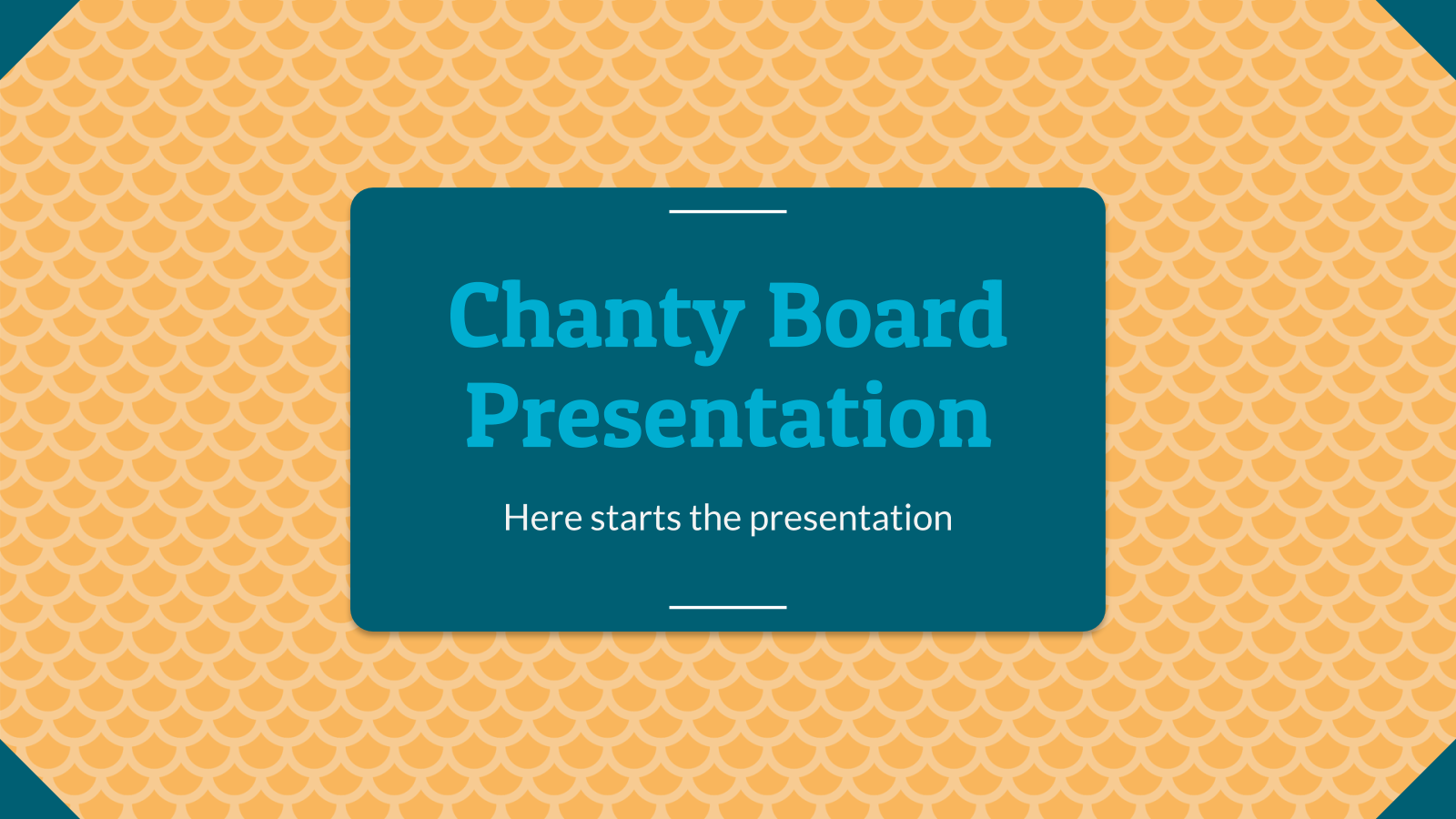 Chanty Board presentation template