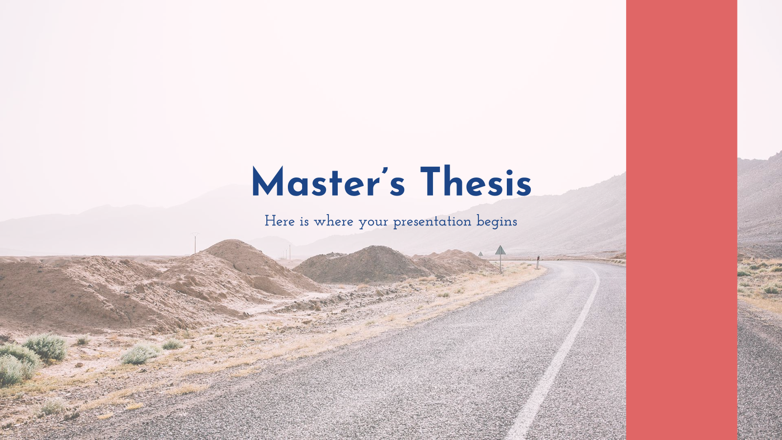 Master's Thesis presentation template