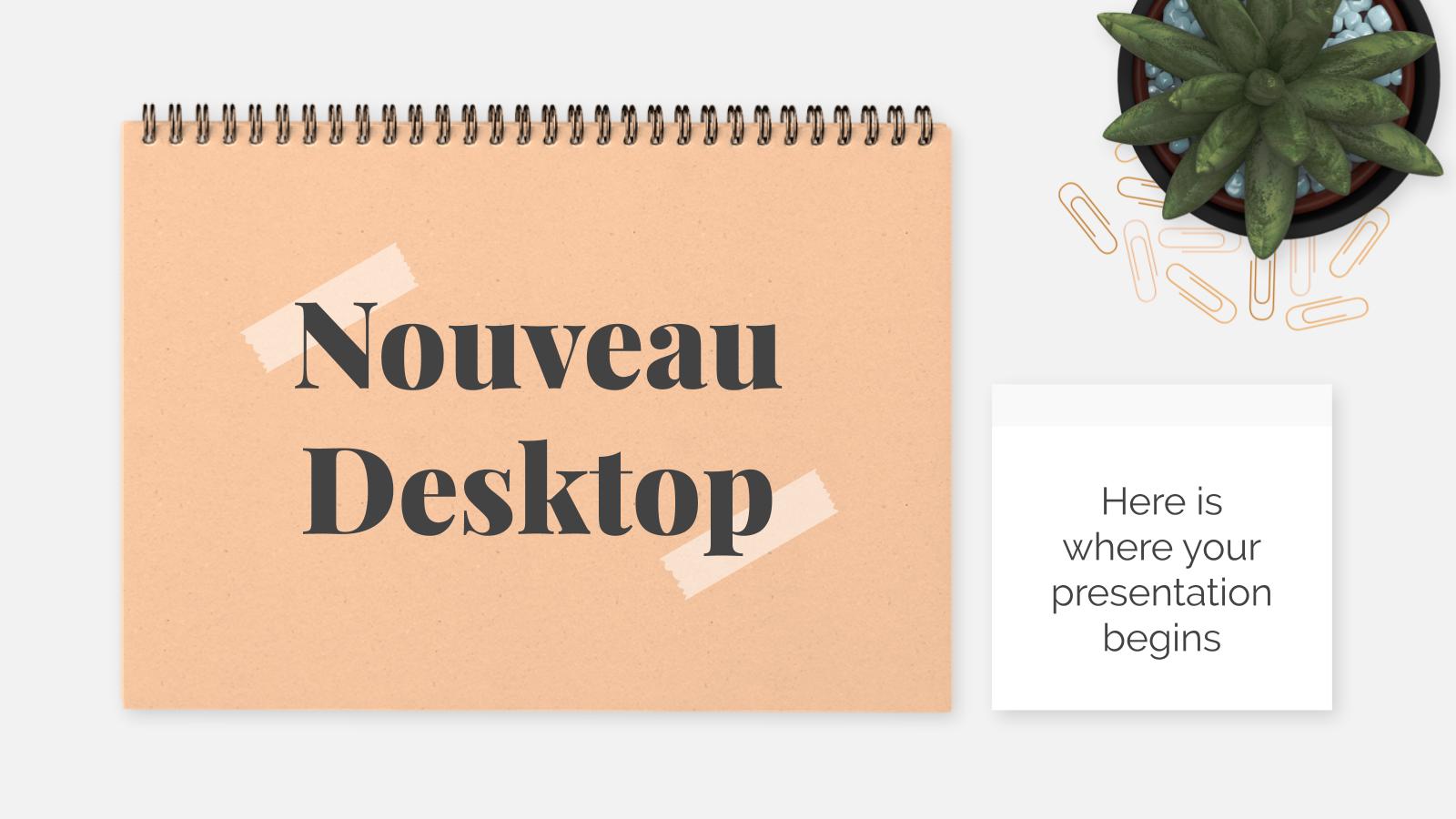Nouveau Desktop presentation template