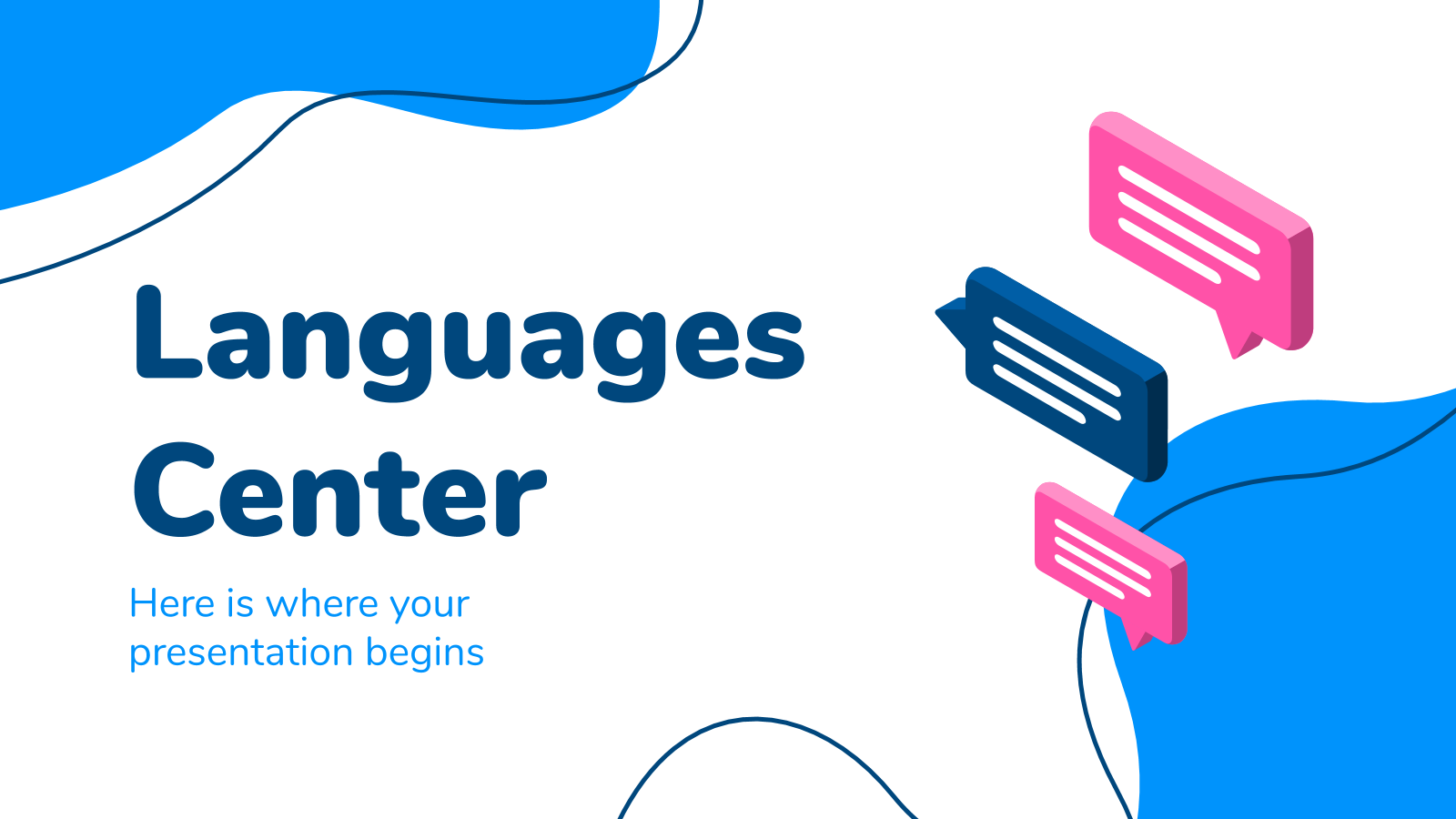 Languages Center presentation template