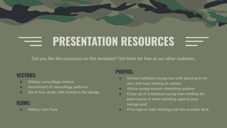 Military Background presentation template