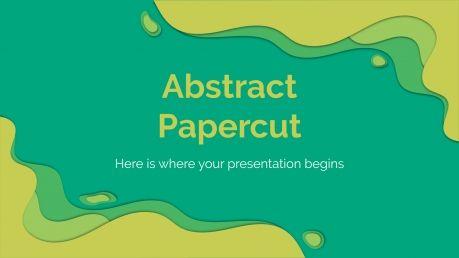 Plantilla de presentación Papercut abstracto