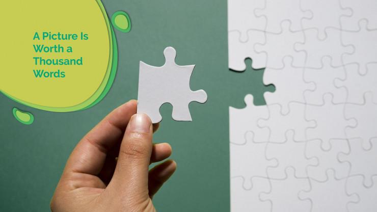 Modelo de apresentação Papel cortado abstrato