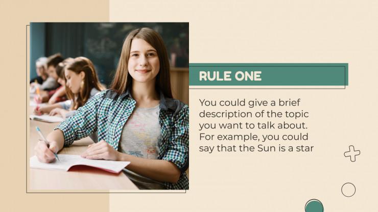 School Rules presentation template