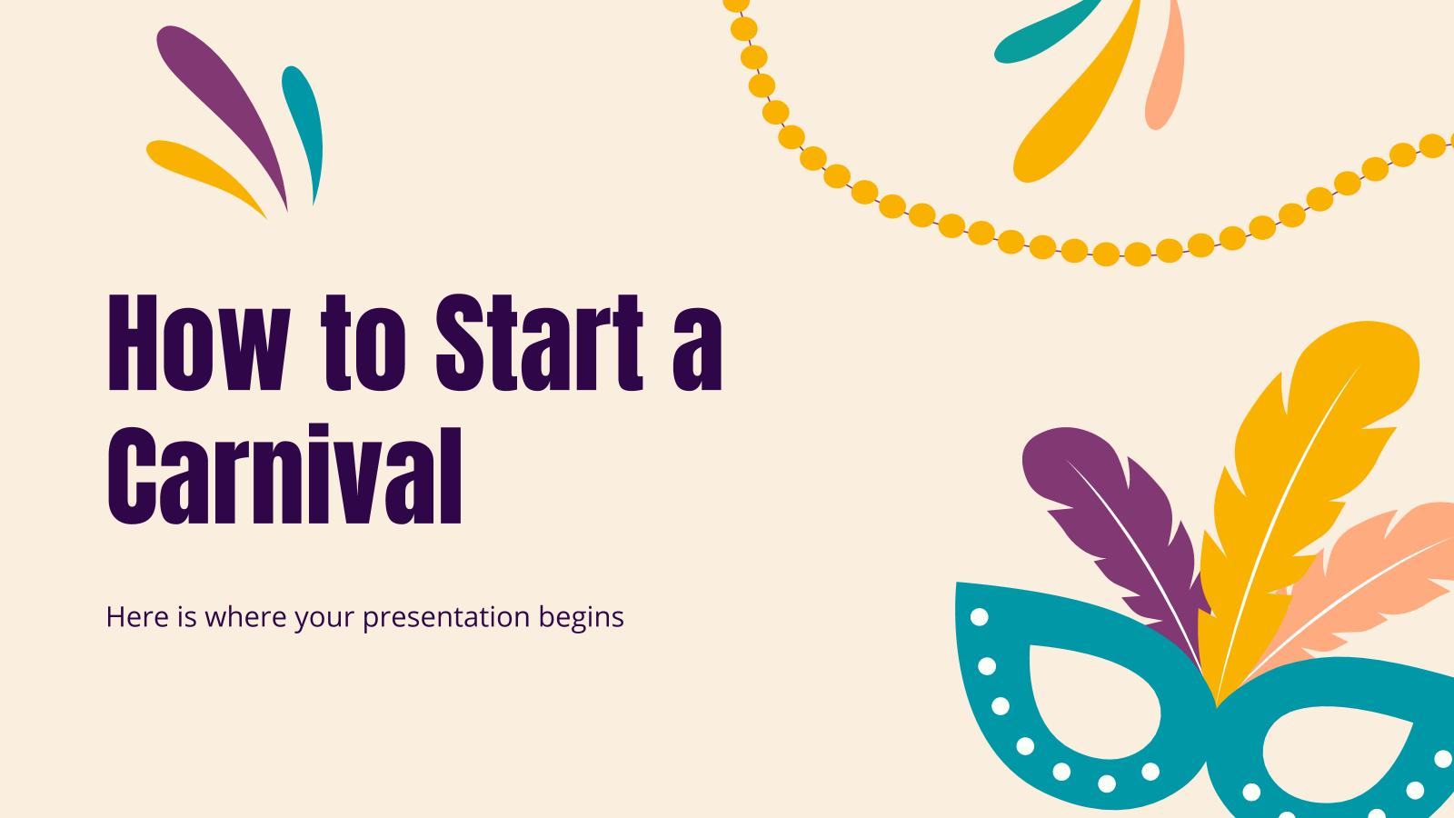 Plantilla de presentación Cómo organizar un desfile de Carnaval