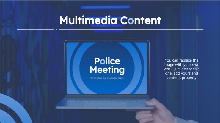 Plantilla de presentación Reunión policial