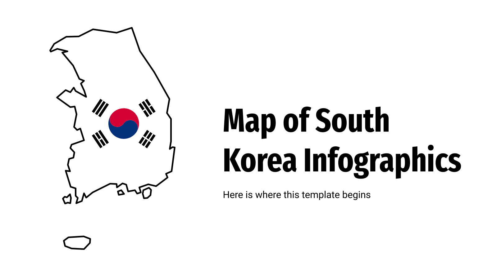 Map of South Korea Infographics presentation template