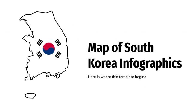 Infographies de carte de la Corée du Sud : Modèles de présentation