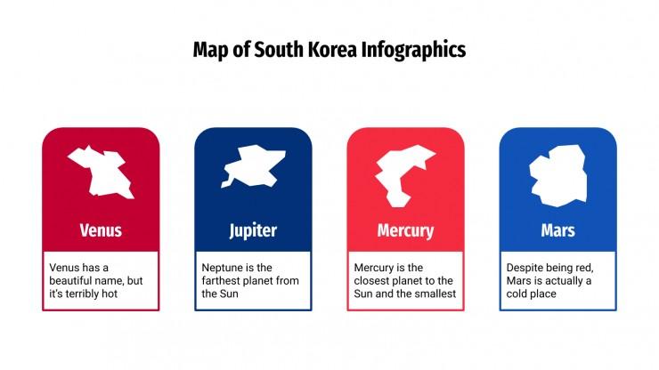Map of South Korea Infographics presentation template