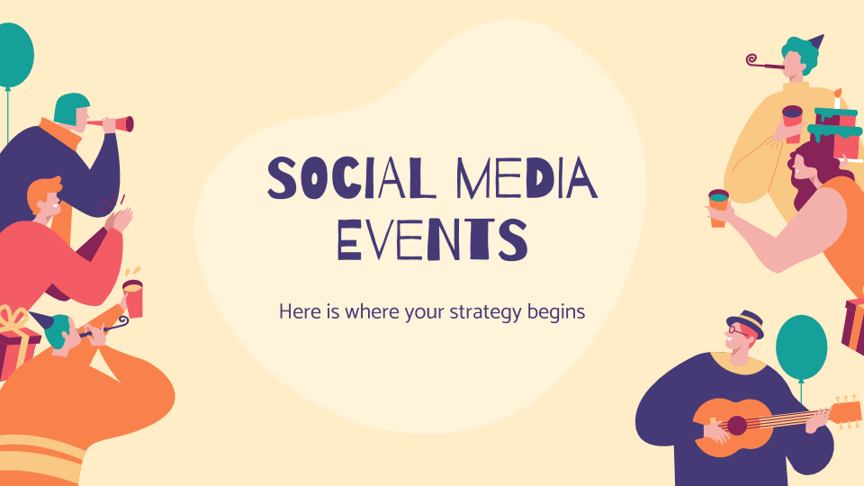 Social Media Events presentation template