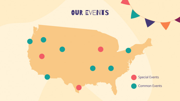 Social Media Events presentation template