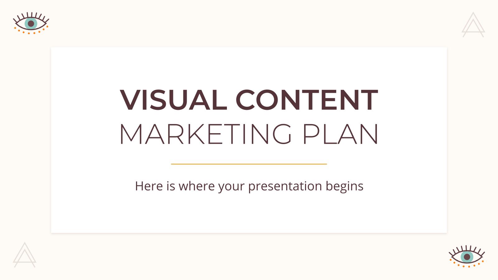 Modelo de apresentação Plano de marketing de conteúdo visual