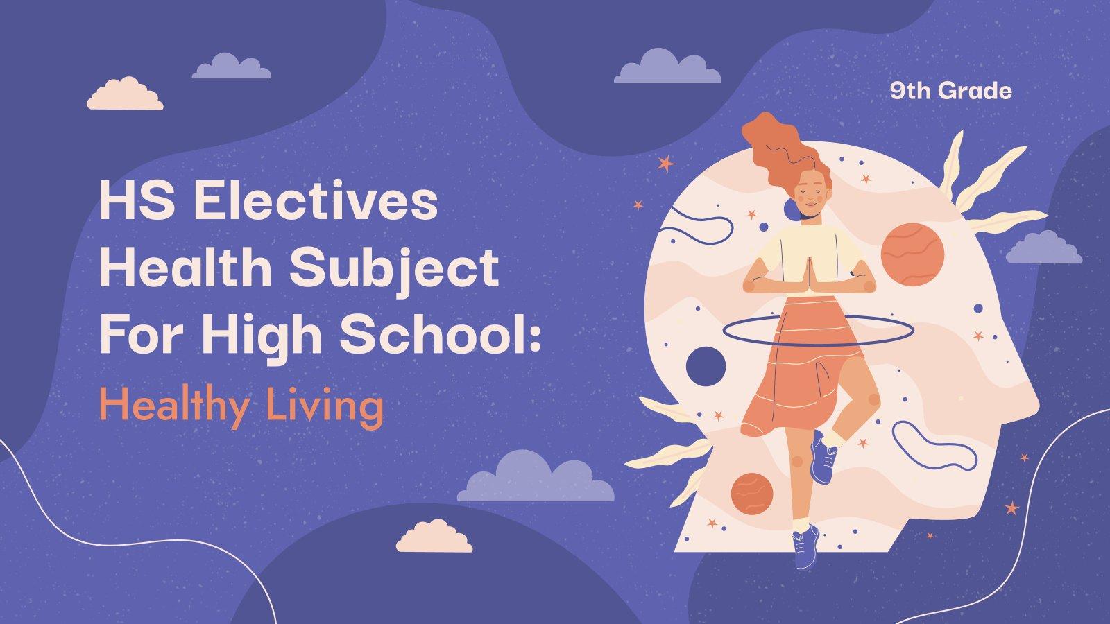 Matière facultative pour le lycée : Mode de vie sain : Modèles de présentation