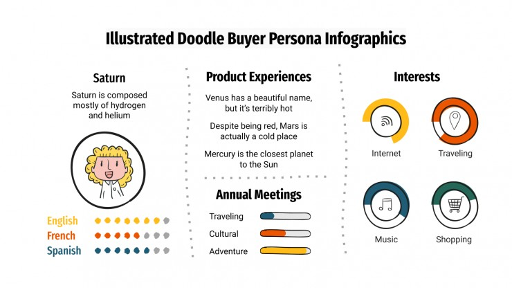 Illustrated Doodle Buyer Persona Infographics presentation template