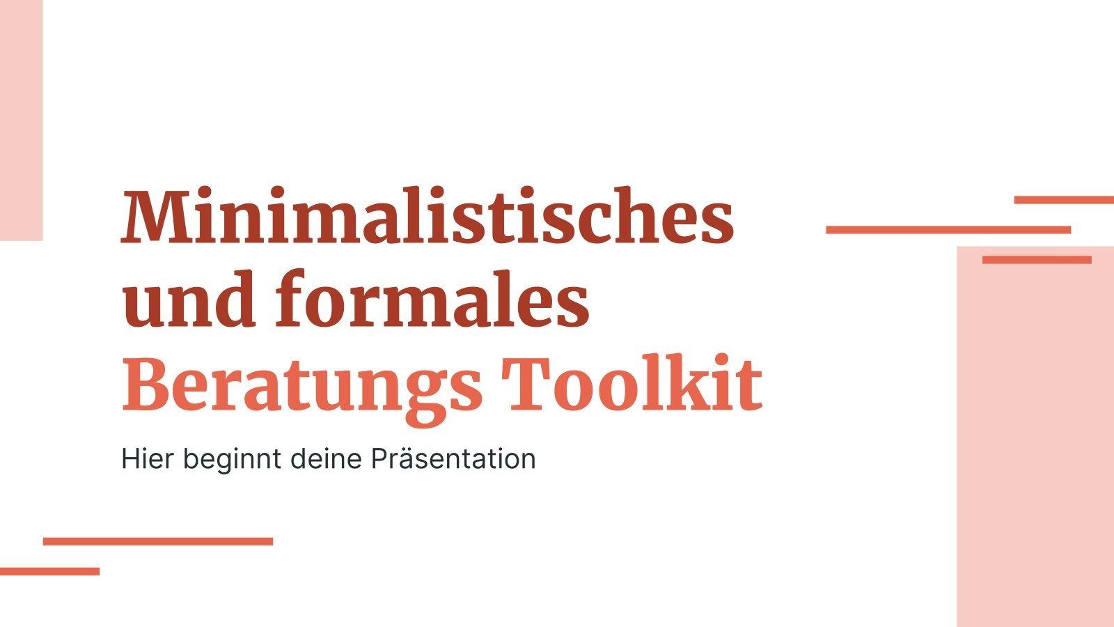 Minimalistisches und formales Beratungs Toolkit Präsentationsvorlage
