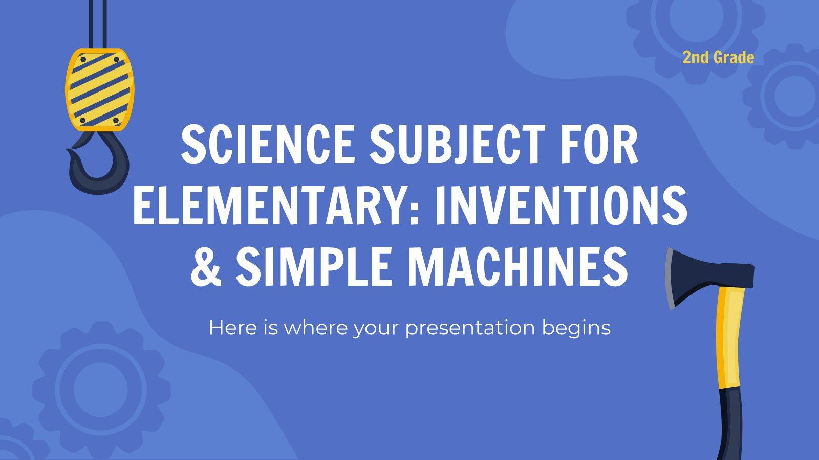 Wissenschaft für die 2. Klasse: Maschinen Präsentationsvorlage