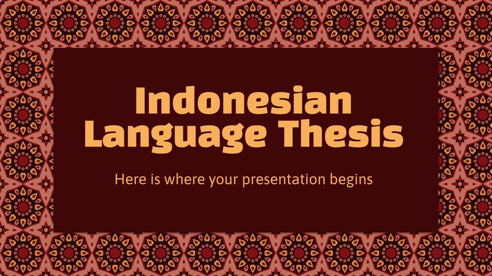 Modelo de apresentação Tese da língua indonésia