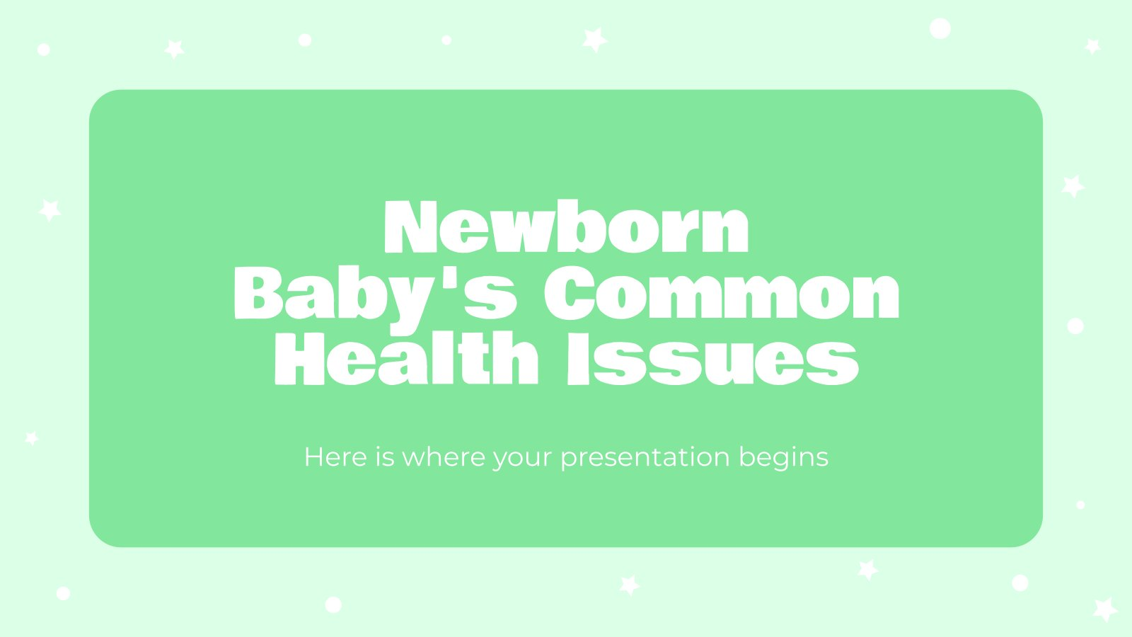 Principaux problèmes de santé chez les nouveau-nés : Modèles de présentation