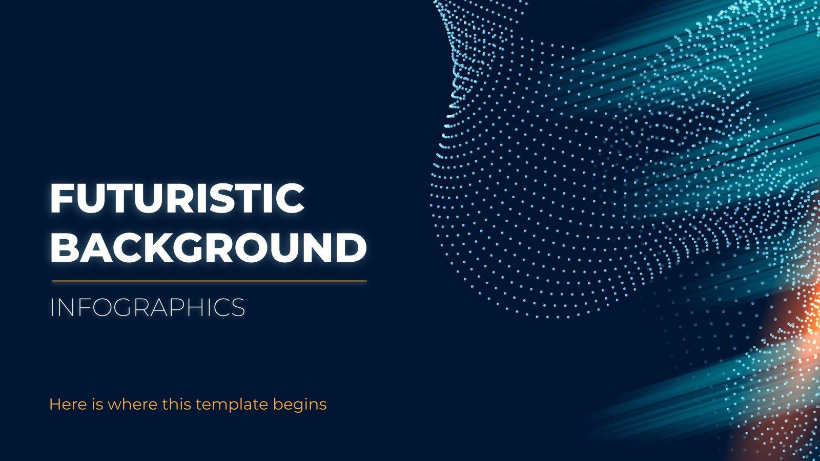Futuristic Background Infographics presentation template