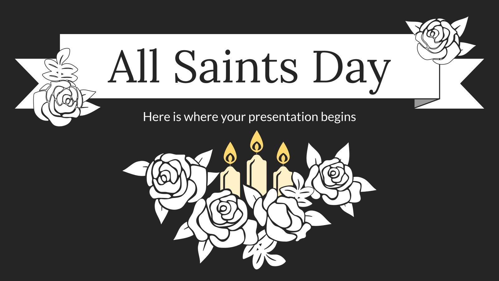 All Saints Day presentation template