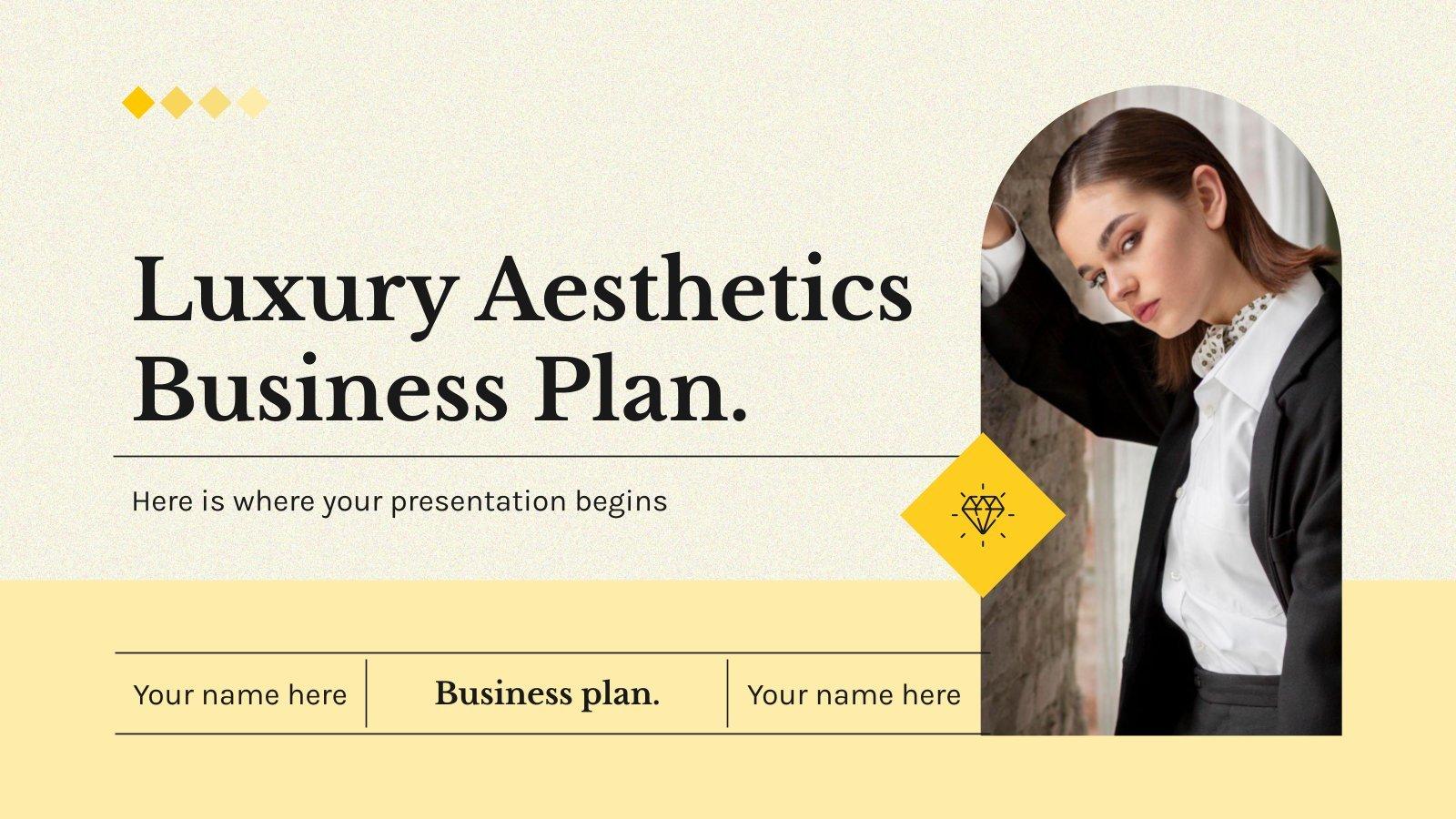 Luxury Aesthetics Business Plan presentation template